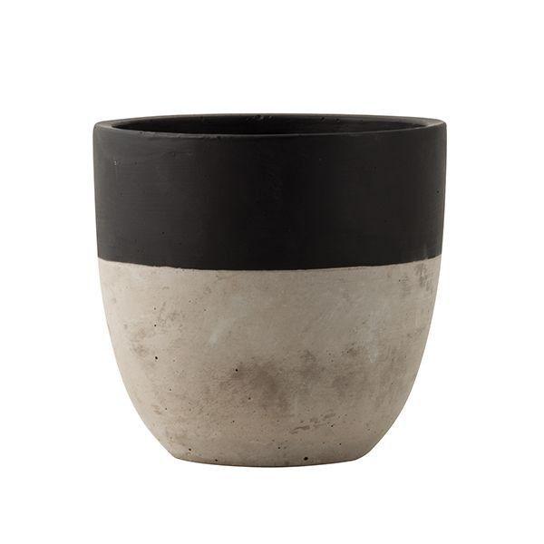 Black Dipped Concrete Planter