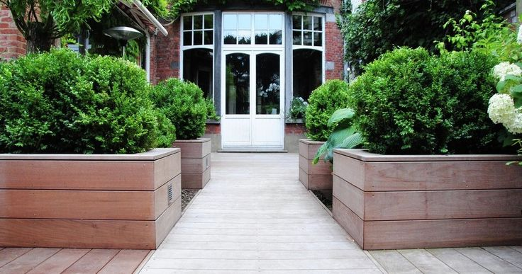 ontwerp tuin: strakke tuinen, stadstuinen, moderne tuinen, landelijke tuinen | architerra tuinarchitectuur verhoogde borders!