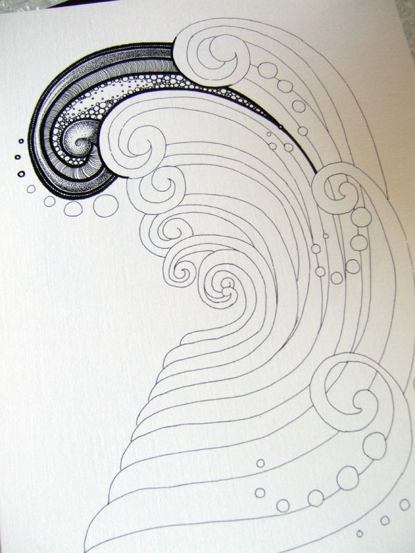 Ink Drawing of what looks to be a wave...GORGEOUS