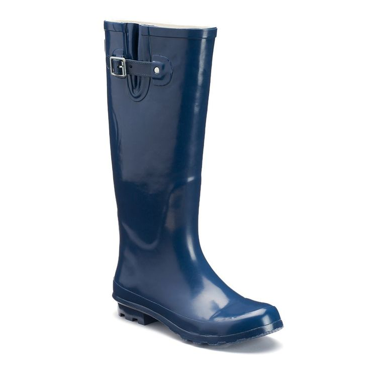 Western Chief Classic Women's Tall Waterproof Rain Boots, Size: medium (10), Blue (Navy)