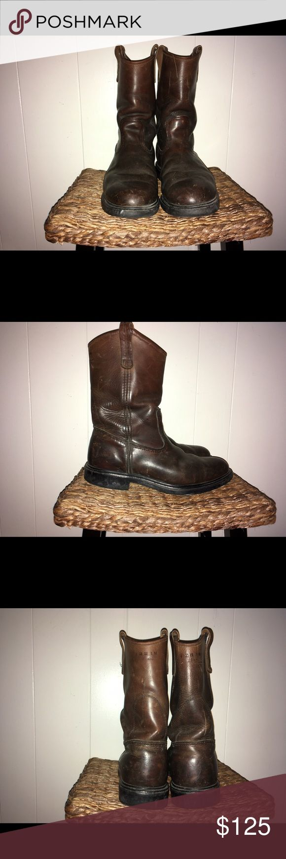 Men's Red Wing Pull-On Boots, EUC! These handsome boots are in excellent condition. They are worn in just right, at the right price! Red Wing Shoes Shoes Boots
