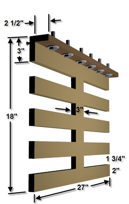 The RunnerDuck Wood Storage Rack, step by step instructions on how to make a storage rack for wood.