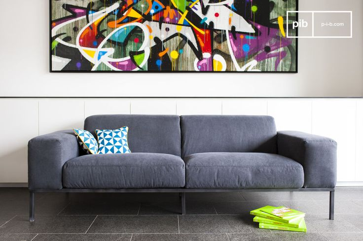 El sofá Bergen es un sofá vintage que se verá muy bonito dentro de cualquier interior nórdico o Shabby Chic.