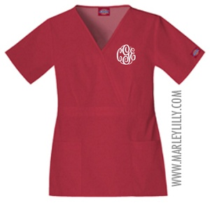 Monogrammed Dickies Empire Waist Scrub Top--one day I get to pick my scrubs :)