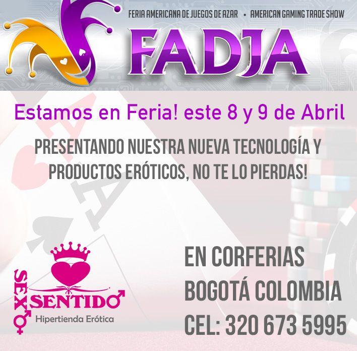 Visítanos en la Feria #fadja en #Bogotá este 8 y 9 de abril estaremos presentes enseñando la nueva forma de obtener tus productos eróticos!, tenemos gran surtido para ti (#Corferias cel: 3206735995)