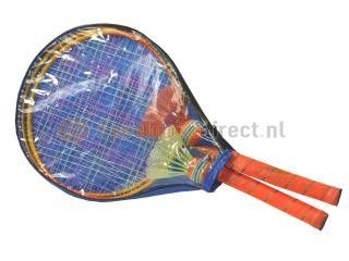 Summertime Mini Badmintonset  Summertime mini badmintonset inclusief twee kleurige shuttles Wordt in tas geleverd waardoor de gehele set bij elkaar opgeruimd kan worden 25 cm doorsnee.  EUR 8.99  Meer informatie