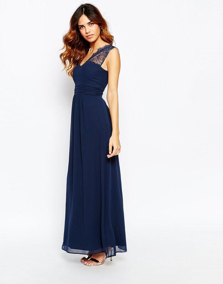1 shoulder maxi dress bridesmaid