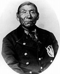 """Winnemucca, (ca. 1820–1882) (also called Wobitsawahkah, Bad Face, Winnemucca the Younger, Mubetawaka, and Poito), was born a Shoshone around 1820 in future Oregon Territory.  When he married the daughter of Old Winnemucca, he became a Paiute according to their tribal rules. His father-in-law honored him by naming him """"Winnemucca the Younger"""". Winnemucca the Younger became a war chief with the Kuyuidika."""