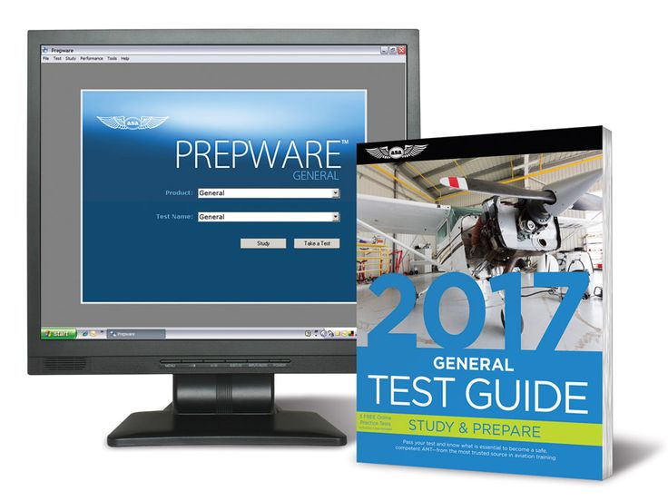 Fast Track 2017 Test Guide Bundle: General Combined Test Guide book and study software for the Powerplant FAA Knowledge Exam.
