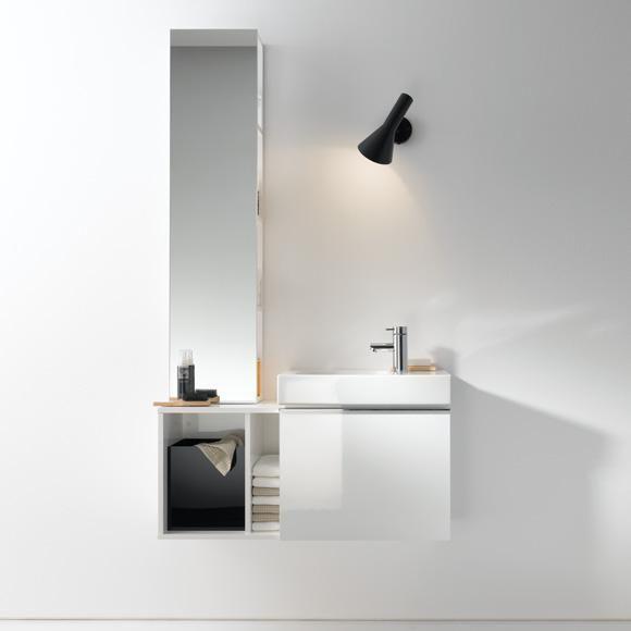 Keramag iCon xs Handwaschbecken-Unterschrank mit 1 Auszug Front und Korpus Alpin hochglanz - 840052000 | REUTER
