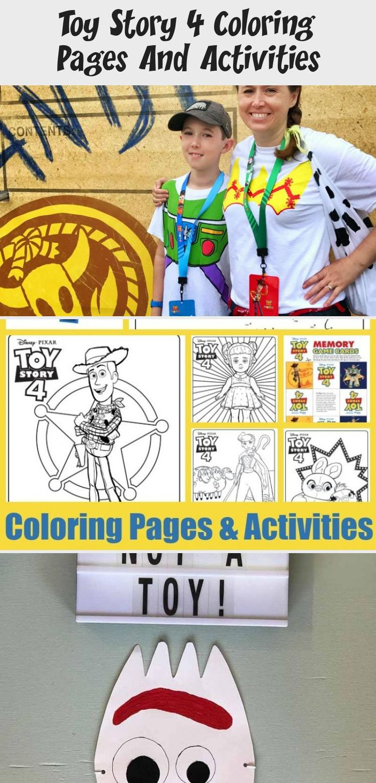 Toy Story 4 Coloring Pages And Activities | Bunny coloring ...