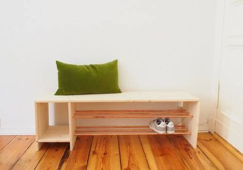 Anleitung für ein selbstgebautes Schuhregal aus Holz