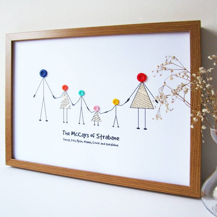 personalised family print by mrs l cards | notonthehighstreet.com