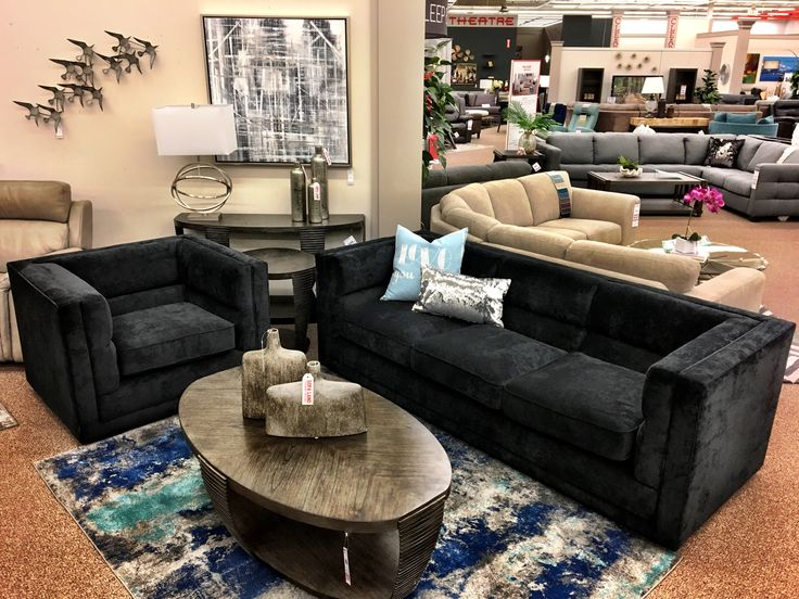 Check out this beautiful new addition!  Clean lines, classic styling, and an amazing price!  Sofa $899 and chair $499.