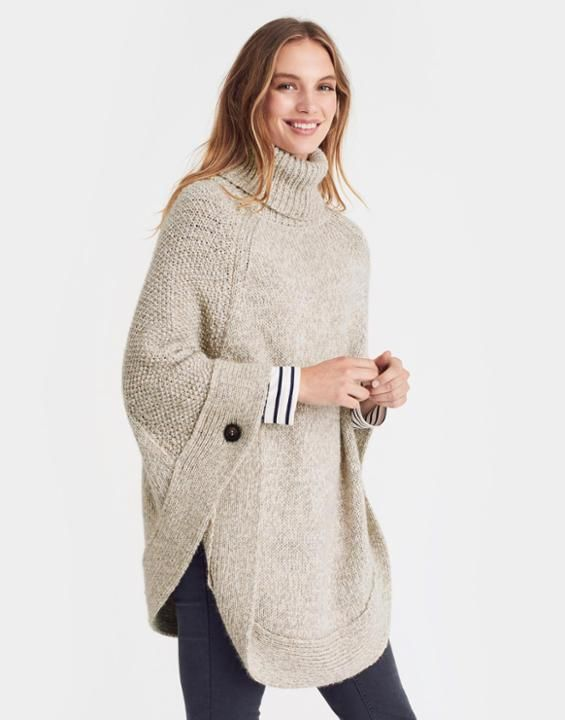 Joules Perdy Roll Neck Poncho