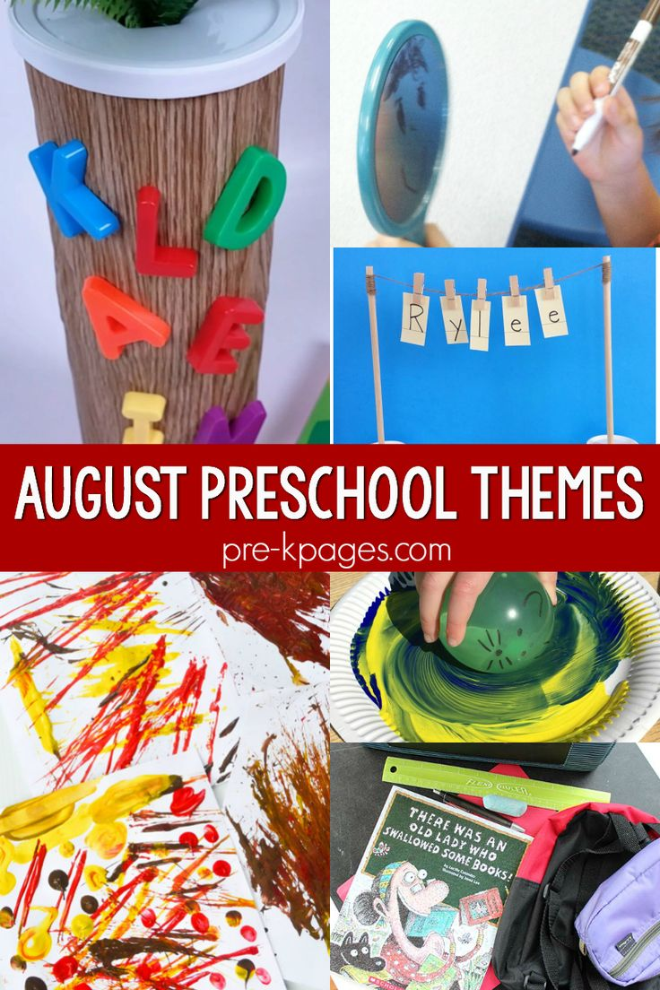 August Preschool Themes – Blog – Pre-K Pages