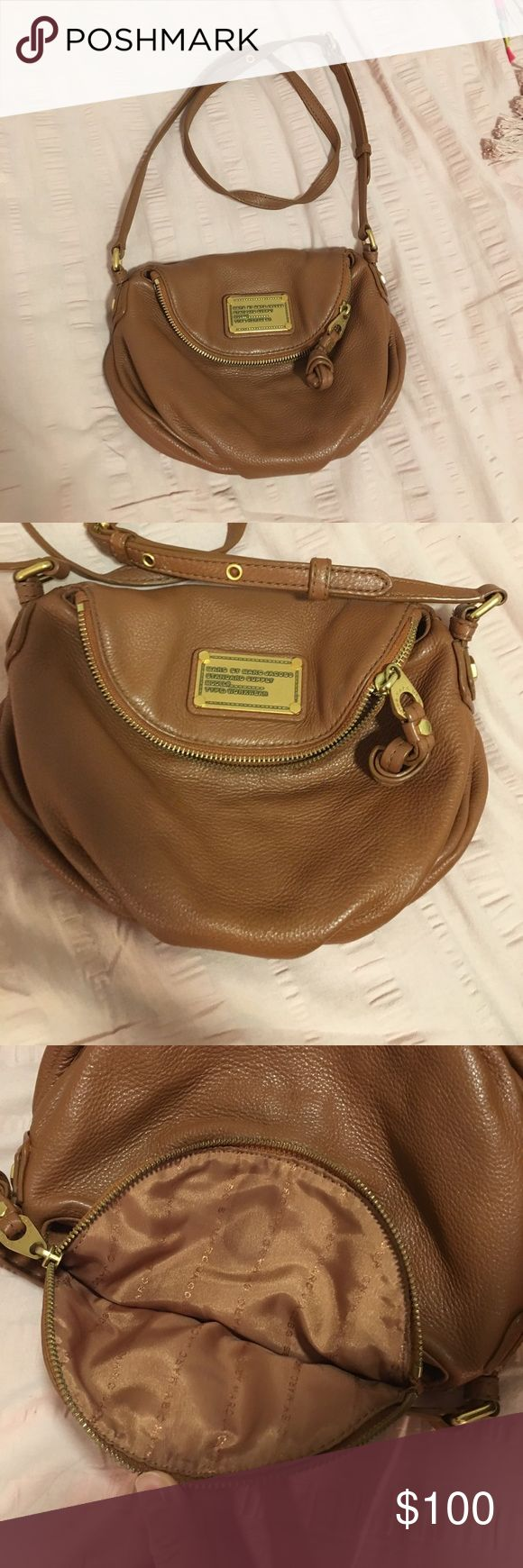 Marc by Marc Jacobs purse tan small crossbody Is used but in great condition! Marc By Marc Jacobs Bags Crossbody Bags