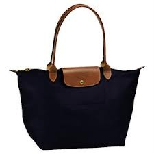 navy blue longchamp- new diaper bag!