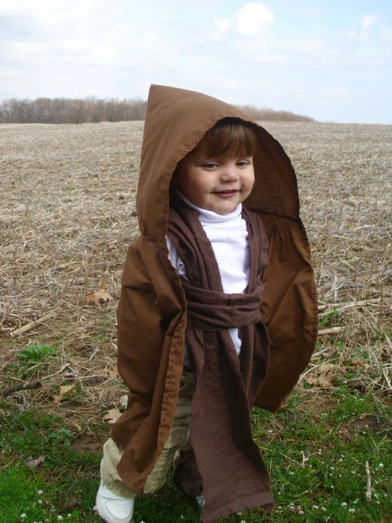 Jedi Robe Baby Toddler sized Ready to SHIP by toeFishy on Etsy, $30.00    oh man finn would be a cute jedi!!~ Super cute!