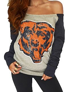 Chicago Bears Off Shoulder Sweatshirt | SportyThreads.com