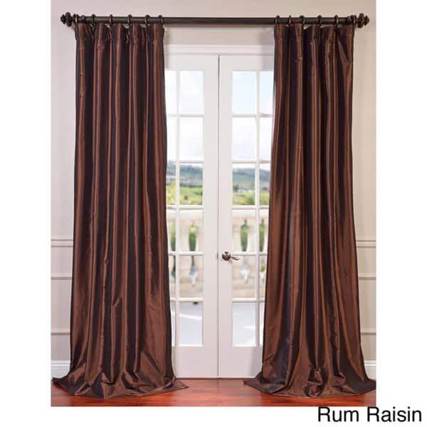 Exclusive Fabrics Faux Silk Taffeta 108-inch Blackout Curtain Panel