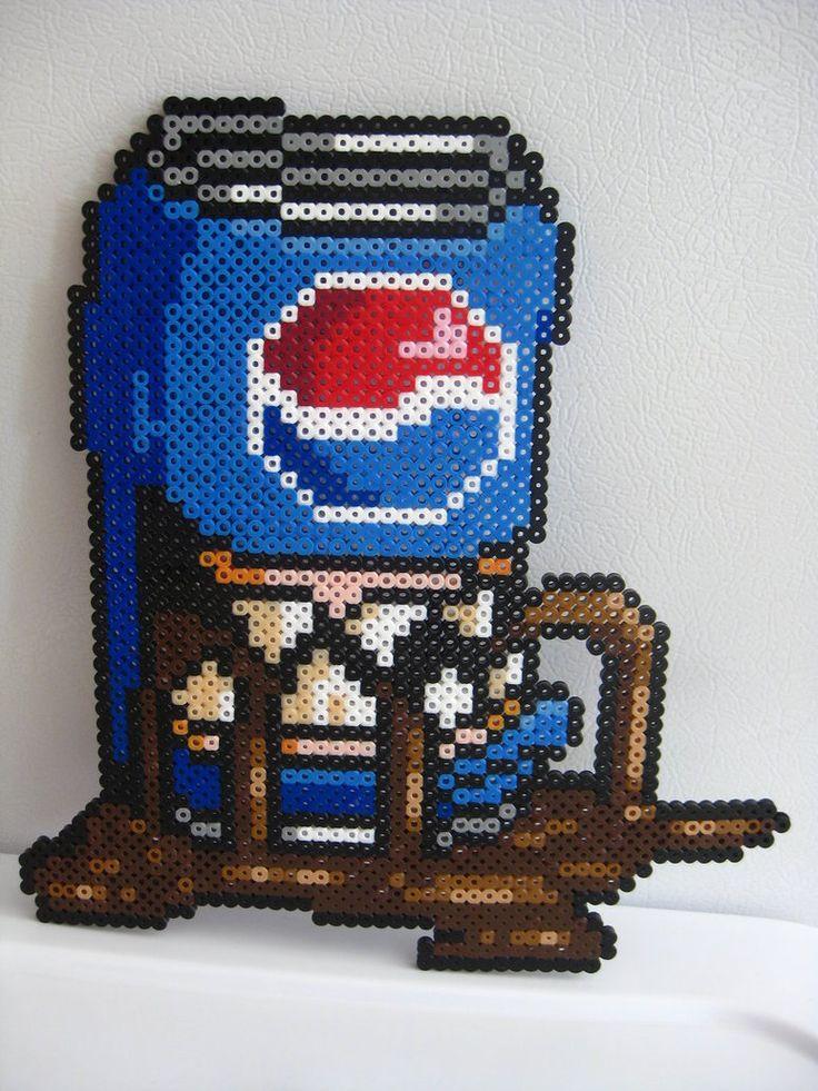 Perler Man Eatting Pepsi Can by Slimer530 on DeviantArt