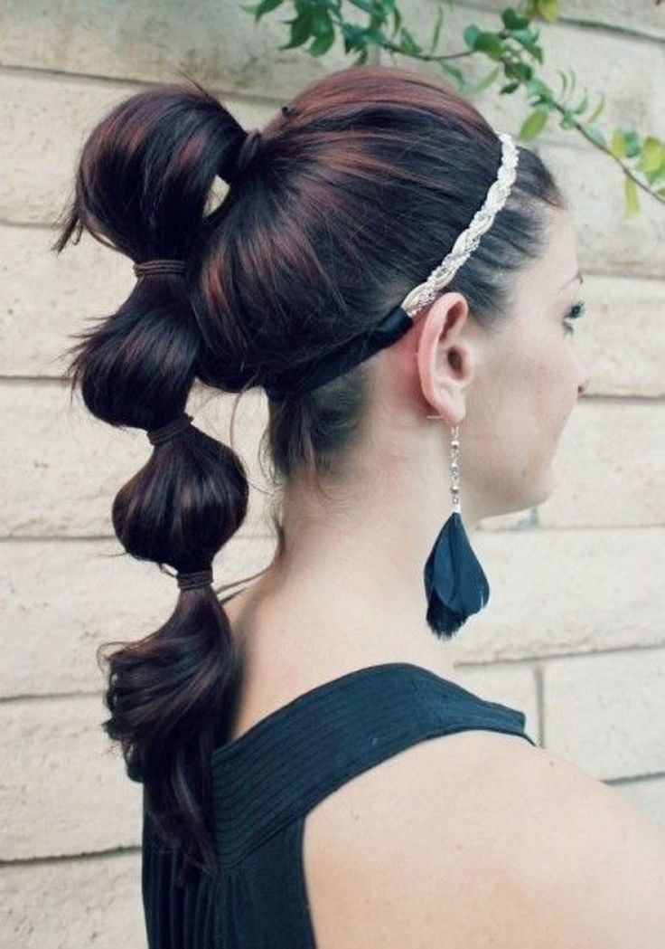 4. #Triple Poof Ponytail - 19 #Puffy Ponytails to Pep up Your Style ... → Hair #Ponytails