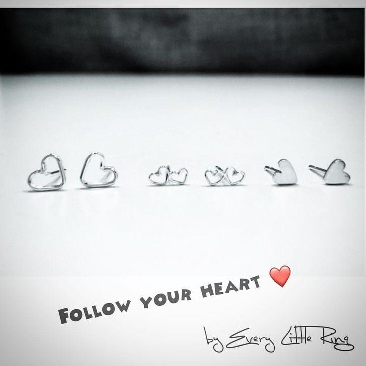 Follow your heart💕 ----- . . . . #handmade #handmadejewelry #madewithlove #handmadeisbetter #shophandmade #handmadegift #madebyhand #heartstuds #heartjewelry #heartgift #simpleheartearrings #valentinesdaygifts #valentinesjewelry #valentinesday #youareloved #bemine❤️ #thatsdarling #toronto #torontolife #torontostyle #torontoigers #markham #hk #yyz #handmadeincanada #torontocrafter #buylocal #torontocreatives #shoptoronto  #TO