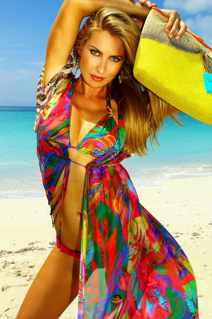 Bursting With Tropical Flora This Silk Open Beach Dress Perfectly Combines Color And Print For A Stunning Effect Slip It On Over