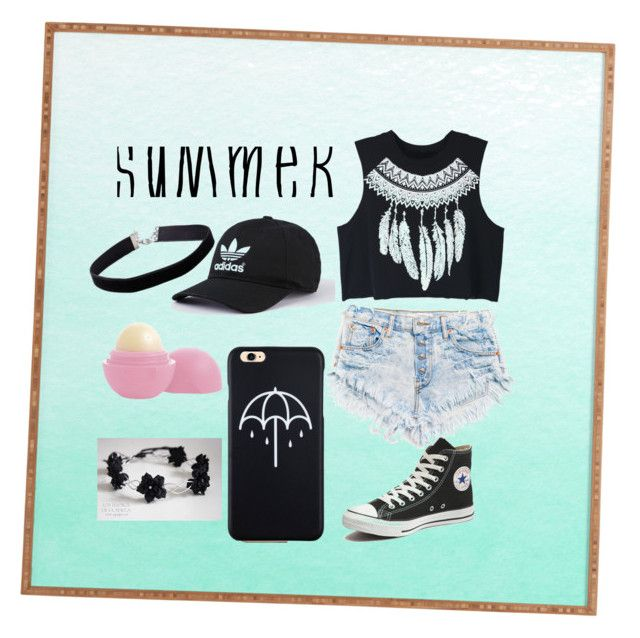 """""""Summer outfit """" by adine233 on Polyvore featuring Converse, WithChic, Miss Selfridge and Eos"""
