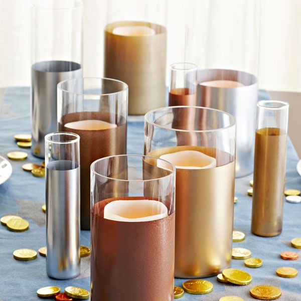 Best 25 spray painted vases ideas on pinterest spray for Kitchen cabinets lowes with candle holders ideas