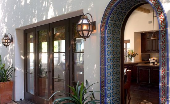 Tiled Archway Tile Arches Home Interiors French Doors Design Decor
