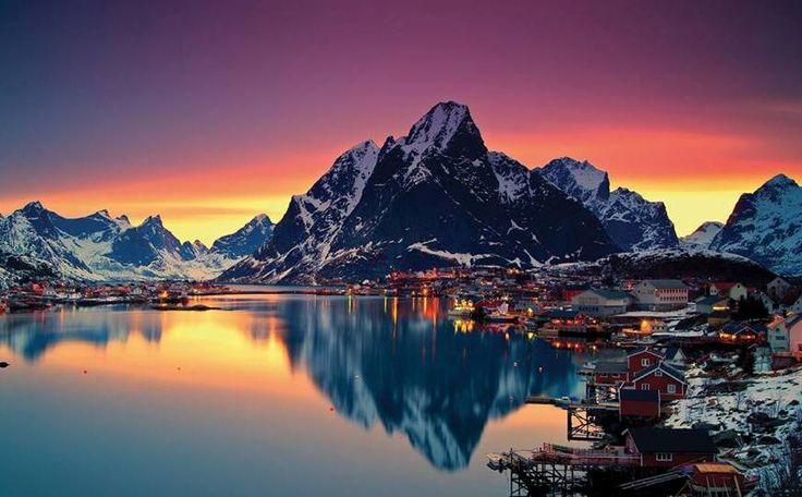Todas as cores do inverno na Noruega. #DestinosEssenciais