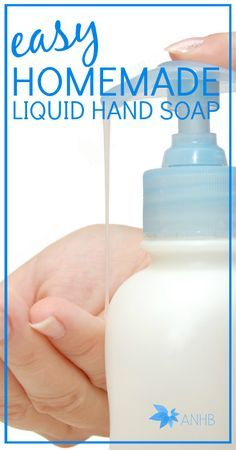 Hands down, the easiest (and best) DIY liquid hand soap.