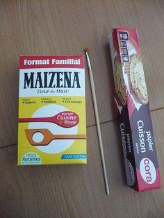 durcir ouvrage en coton ou dentelle avec maizena