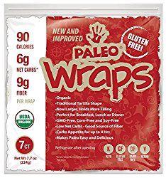 Paleo Wraps® By Julian Bakery — Julian Bakery, 100% Paleo, Grain Free, Gluten Free, Dairy Free, Low Carb