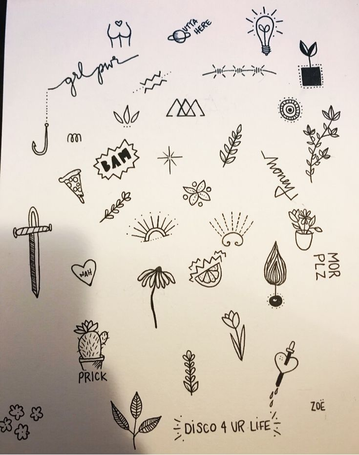 Cute little stick and poke tattoo ideas