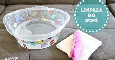 Como limpar o Sofá e (as Capas das Almofadas) em Casa