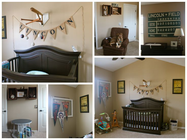 Lincoln's Vintage Sports Nursery! So Happy with how it turned out!