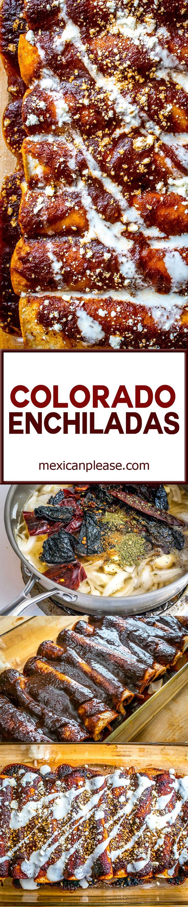 Ancho and New Mexican dried chiles combine with adobo sauce and a sliver of chocolate to create an unbelievably satisfying Colorado sauce.  Serve it up in classic enchilada style and you've got a dish you can't get anywhere else in your town, or state, or country.  Enjoy!  mexicanplease.com