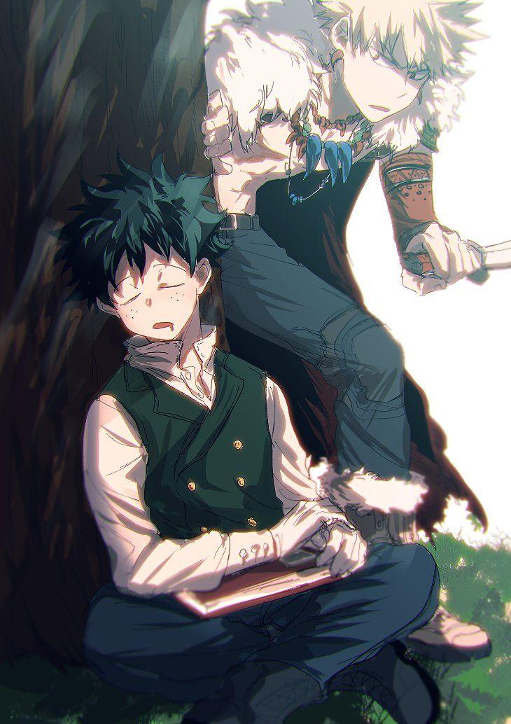 Boku no Hero Academia    Midoriya Izuku, Katsuki Bakugou.