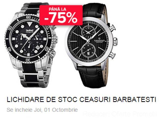 Pana la -75% Reducere. Lichidare stoc ceasuri pentru barbati | Reduceri Oferte si Promotii in Romania | Ceasuri Barbati