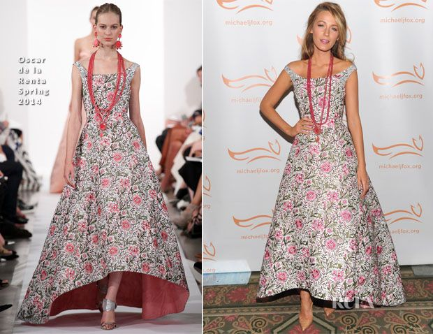 Blake Lively In Oscar de la Renta – 2013 A Funny Thing Happened On The Way To Cure Parkinson's
