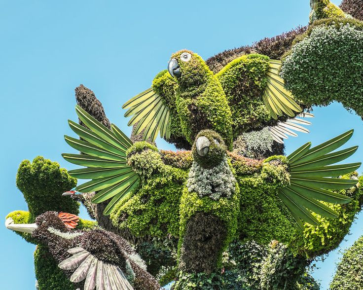 Over 50 truly incredible plant sculptures are currently on display at the Botanical Garden in Montreal. Designed by artists from 25 countries, the works of mosaiculture depict a range of delicate, beautiful & unreal scenes through careful manipulation of plants, flowers & shrubs.