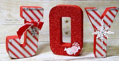 """4"""" Paper Mache Letters Christmas Joy"""