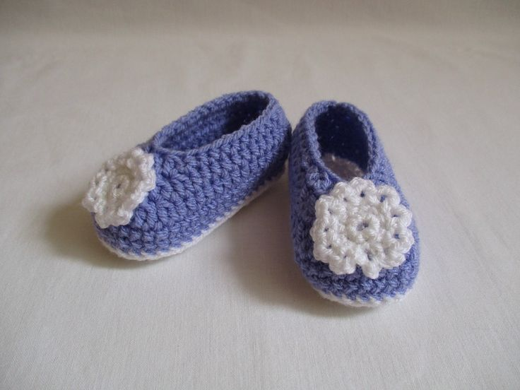 Lavender Crochet Baby Booties, Baby Girl Clothes by ZsuzsaBoutique on Etsy
