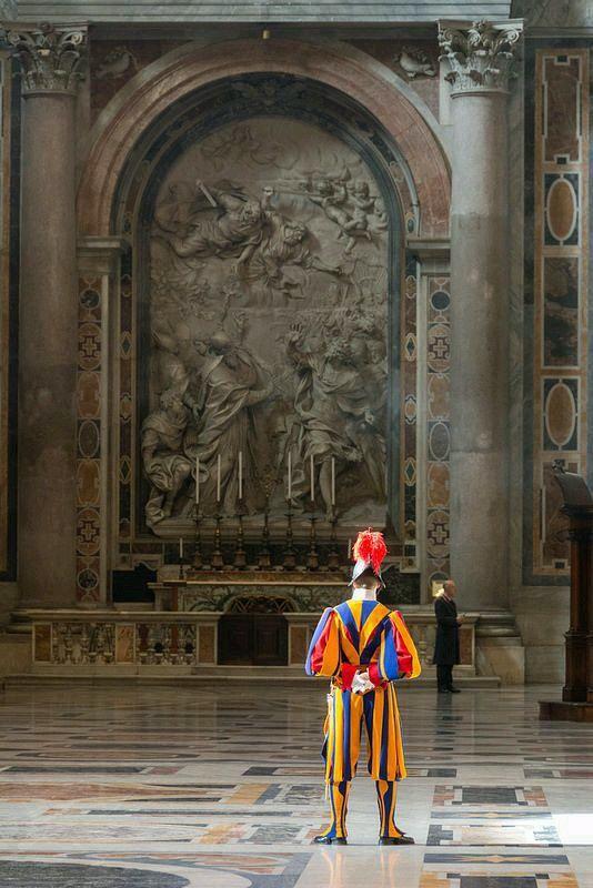 La guardia Suiza en el Vaticano Roma Italia