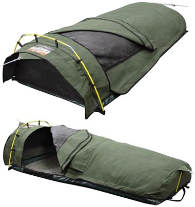 CAMPING - Roman Ridgeline King single Dome Canvas Swag                                                                                                                                                                                 More