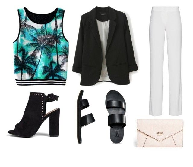 """""""Monday outfit #2"""" by bloguerosa ❤ liked on Polyvore featuring DKNY, Vans, Boohoo and GUESS"""
