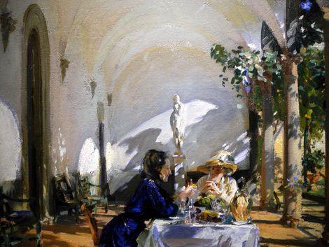 John Singer Sargent, Breakfast in the Loggia-det-1910 on ArtStack #john-singer-sargent #art